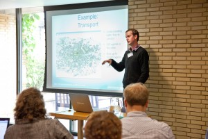 Nick Malleson giving a lecture at the ESRC Research Methods Festival